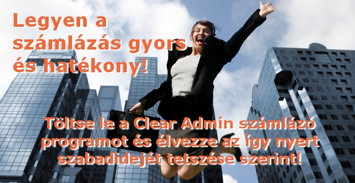 Clear Admin számlázó program